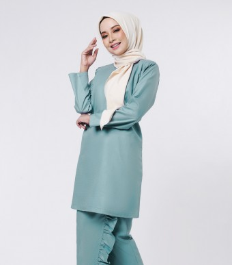 Basic Embun Kurung Loose Teal Green