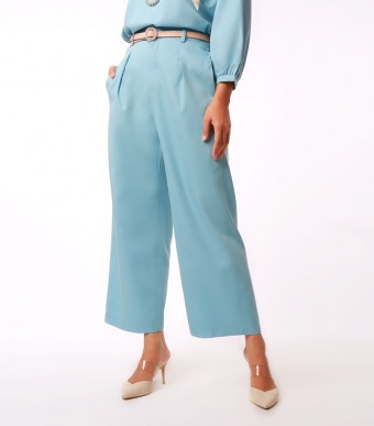 Elena Pants Suit Baby Blue