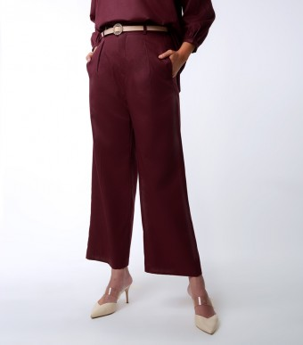 Elena Pants Suit Burgundy