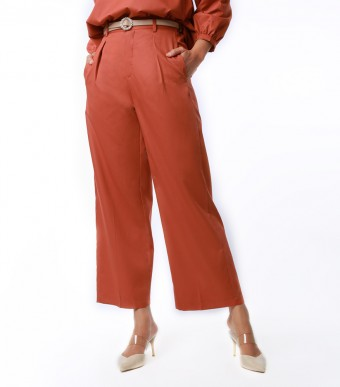 Elena Pants Suit Burnt Orange