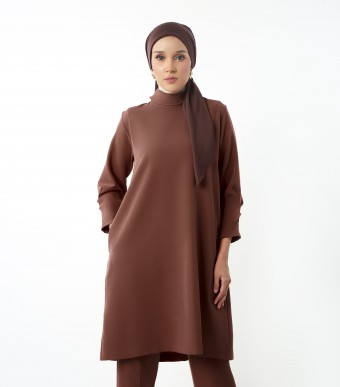 Evelyn Tunic Suit Cocoa Brown