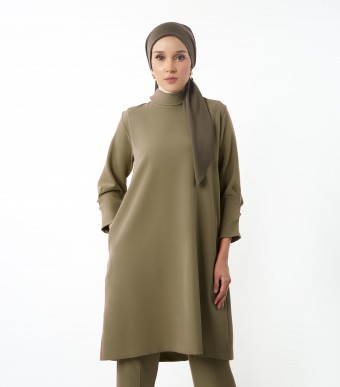 Evelyn Tunic Suit Olive Green