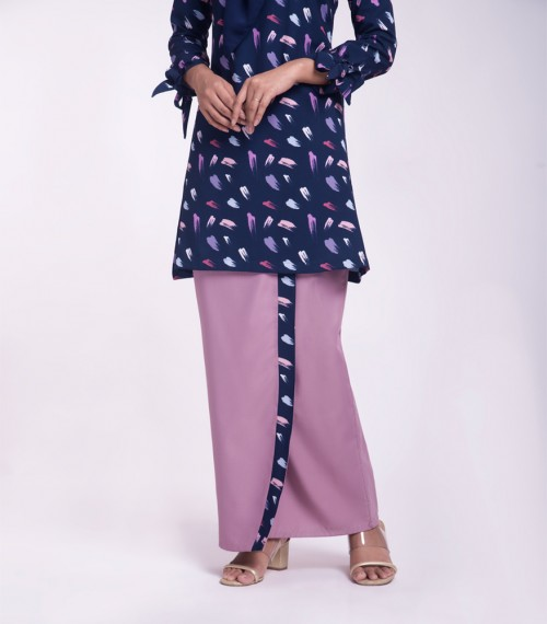 Hannah Kurung Riau Ribbon Top Printed
