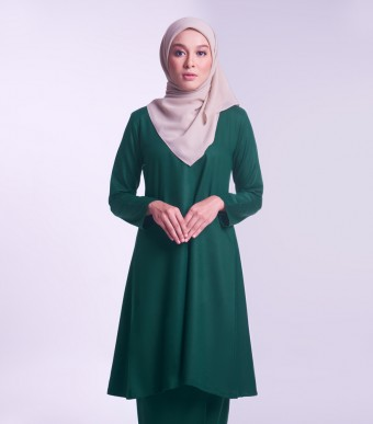 Jameela Kurung Riau Dark Green