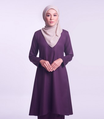 Jameela Kurung Riau Dark Purple