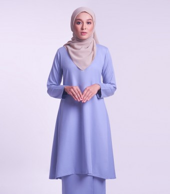 Jameela Kurung Riau Dusty Blue