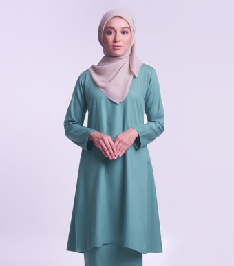 Jameela Kurung Riau Teal Green