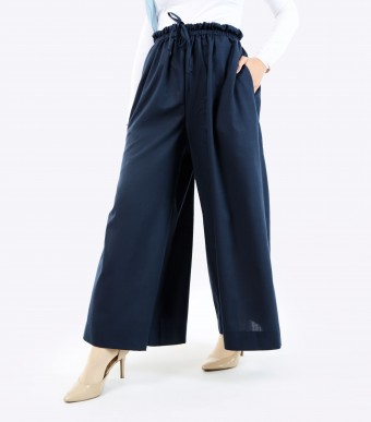 Jenna Pants (Linen) Dark Blue
