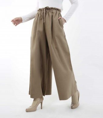 Jenna Pants (Linen) Toffee Brown