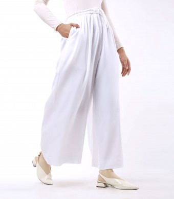 Jenna Pants (Crepe) Off White
