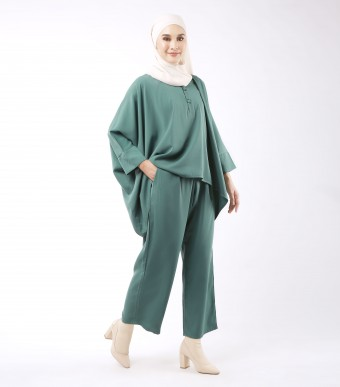 Najjah Kaftan (Set) Dusty Green
