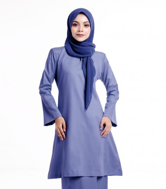 Basic Gulinear Kurung Riau Moden Blue Denim