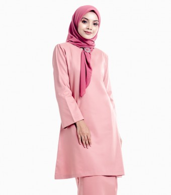 Basic Gulinear Kurung Riau Dark Salmon