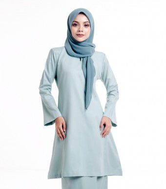 Basic Gulinear Kurung Riau Moden Light Teal