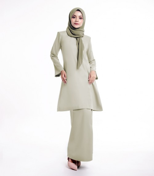 Basic Gulinear Kurung Riau Olive Green