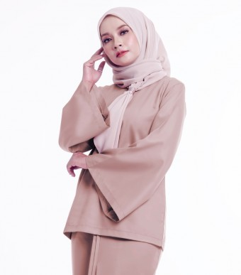 Basic Padma Kurung Kedah Dusty Brown