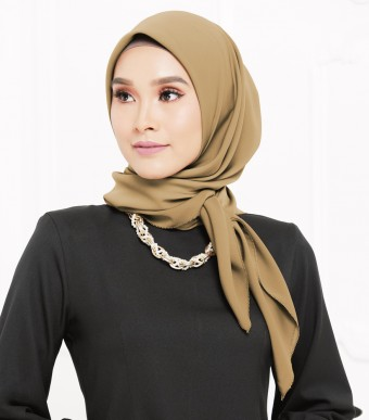 Rhania Square Scarf Brown