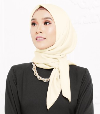Rhania Square Scarf Cream