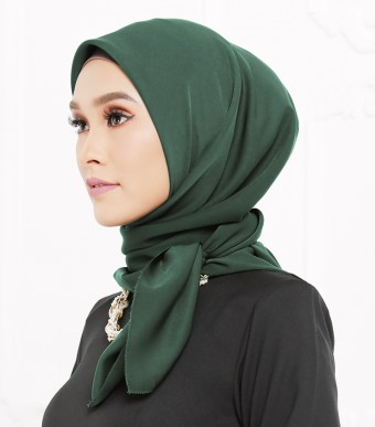 Rhania Square Scarf Dark Green