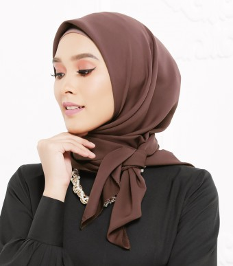 Rhania Square Scarf Rosewood