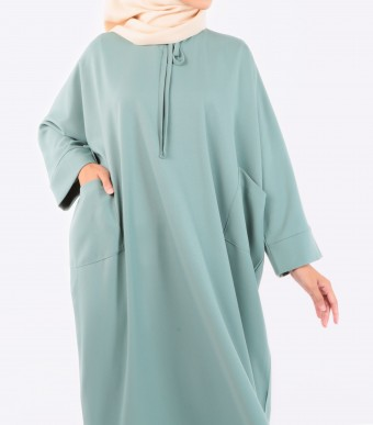 Ruuha Lounge Dress Dusty Green