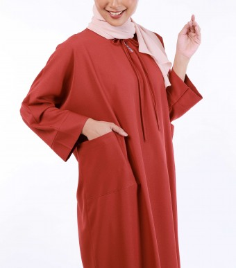 Ruuha Lounge Dress Brick Red