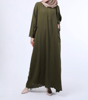 Rumi Dress Seaweed Green