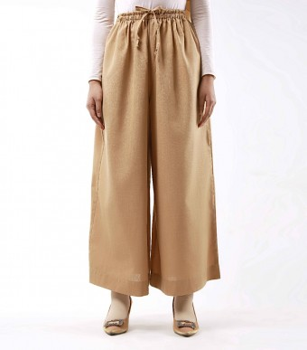 Jenna Pants (Linen) Sandy Brown