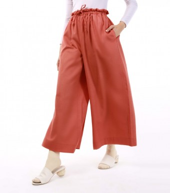 Jenna Pants (Linen) Brick Red