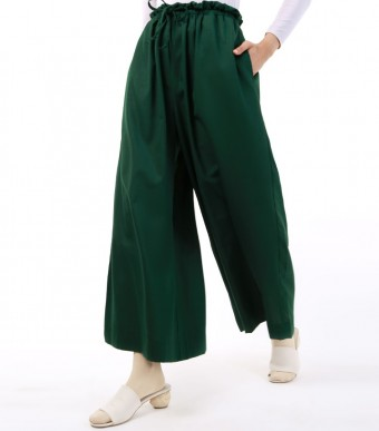 Jenna Pants (Linen) Dark Green