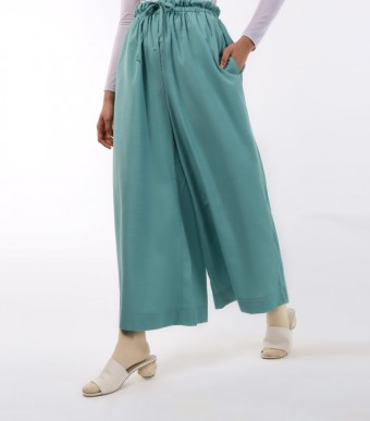 Jenna Pants (Linen) Teal Green