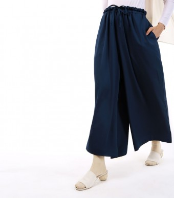 Jenna Pants (Crepe) Dark Blue