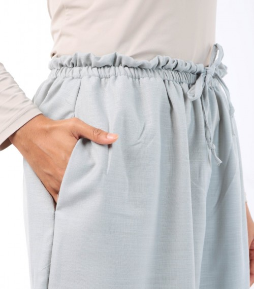 Jenna Pants (Linen) Silver Feather