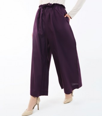 Jenna Pants (Linen) Dark Purple