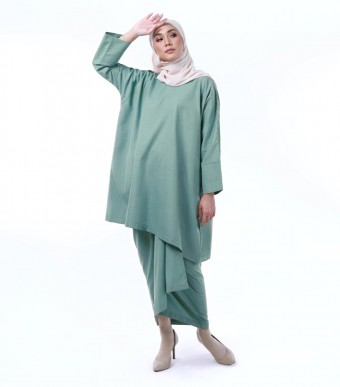 Kirana Kurung Dusty Green